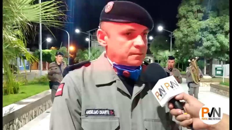 Banda da PM sai as ruas de Santa Luzia para agradecer a população pelo o isolamento social