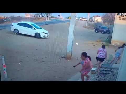 Caicó Rn: Carro colide com poste e quase provoca uma tragédia